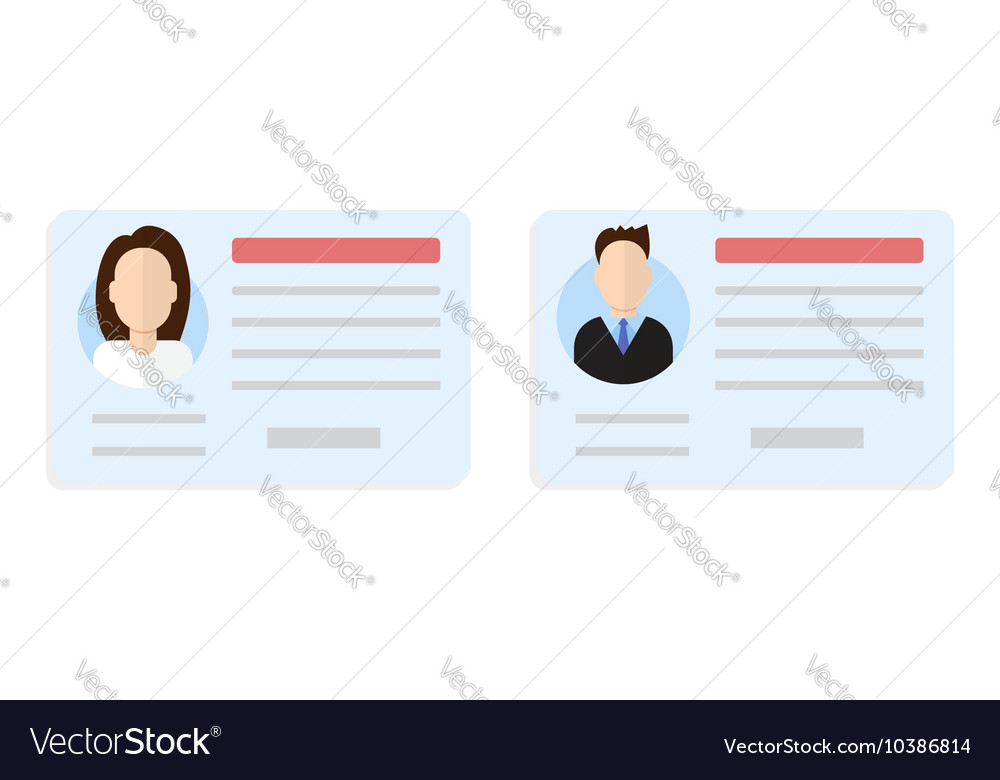 Car driver license set vector