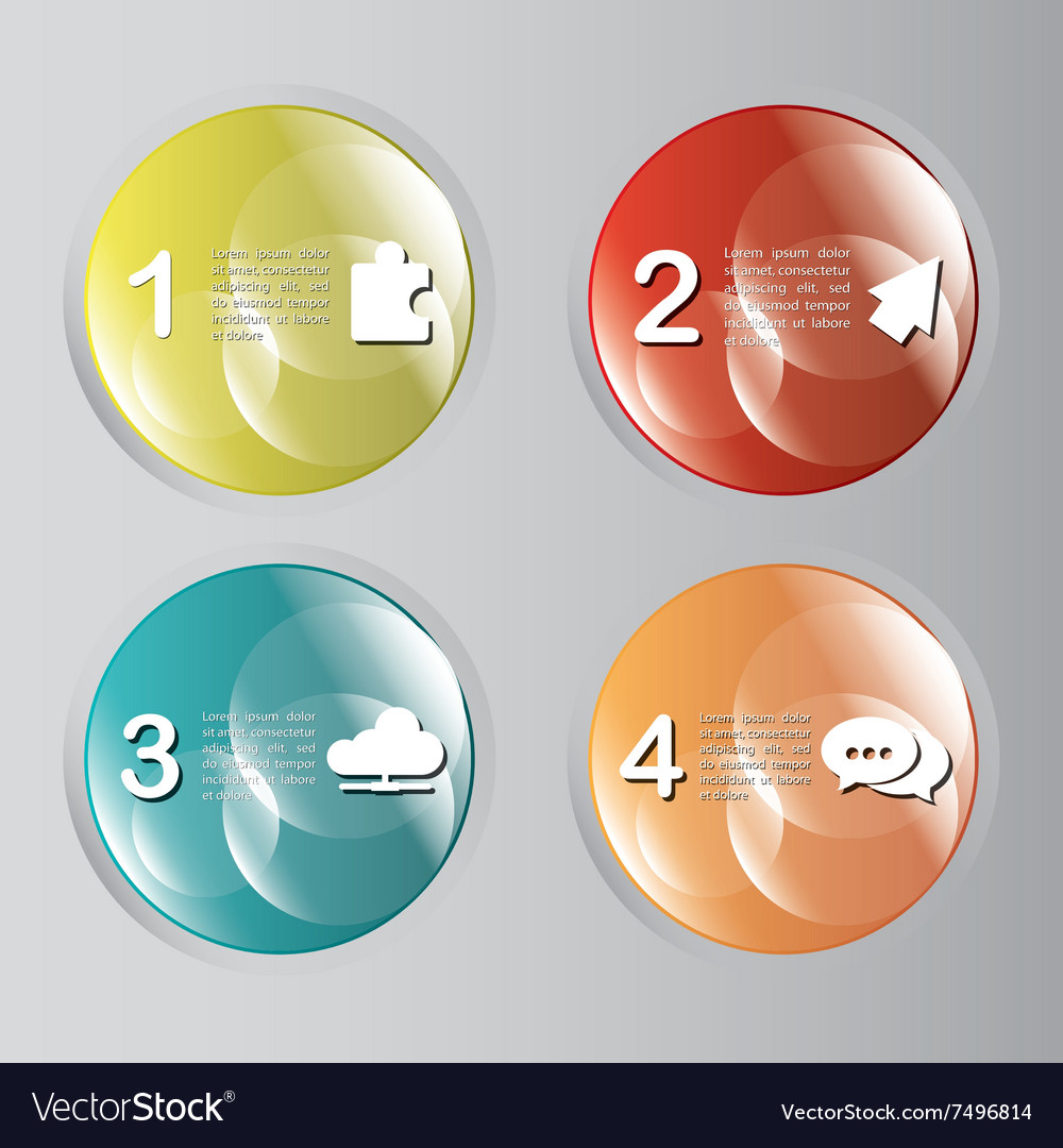 Steps icons desig vector