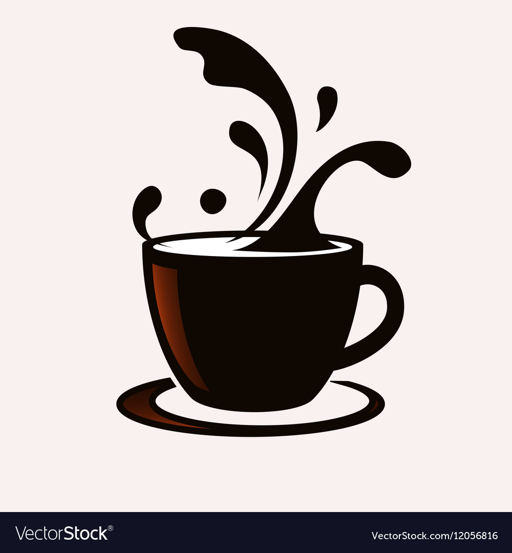 Coffee cup with splash vector