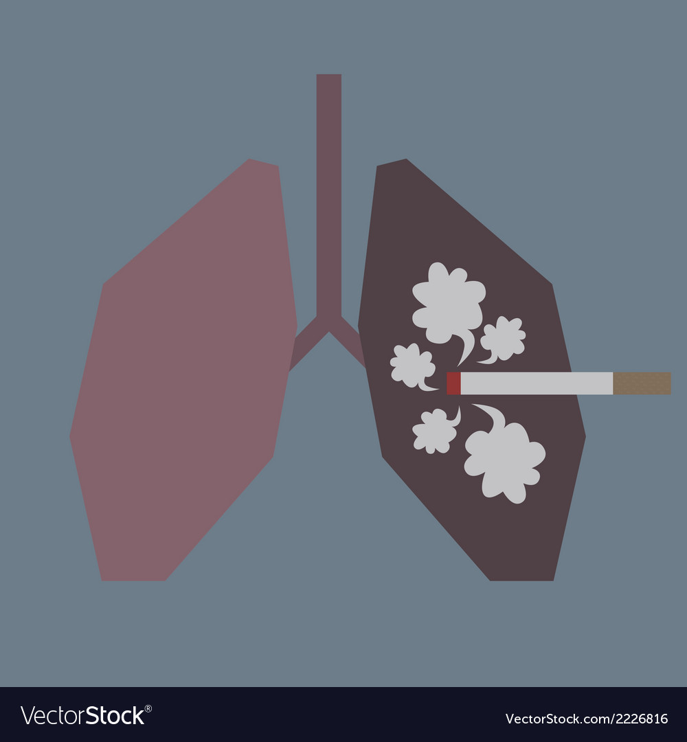 Lungs with smoke vector