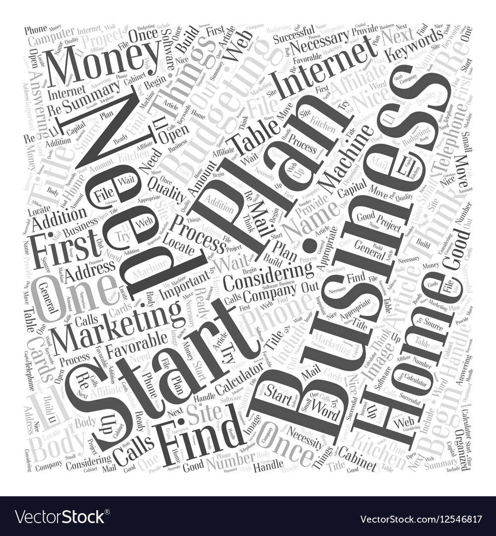Budgeting for a home business word cloud concept vector