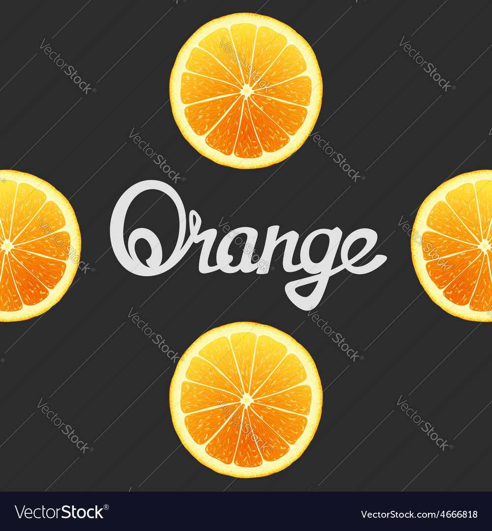 Funny of oranges vector