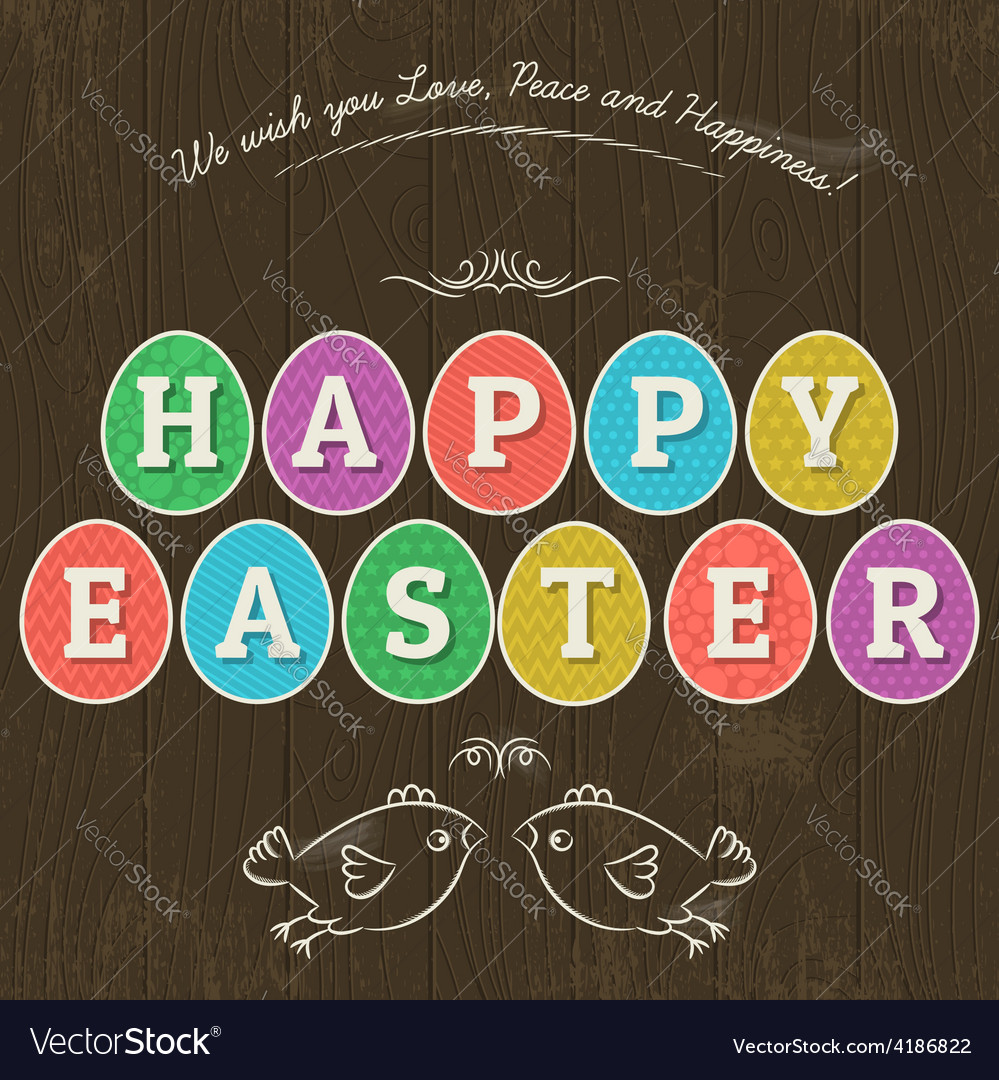 Greetings card for easter vector