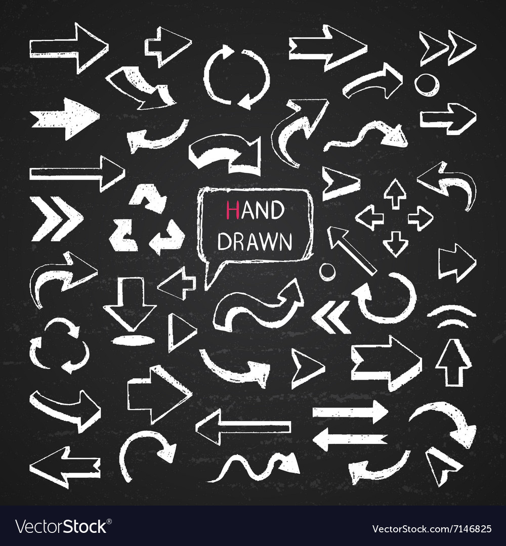 Arrows on a chalkboard vector