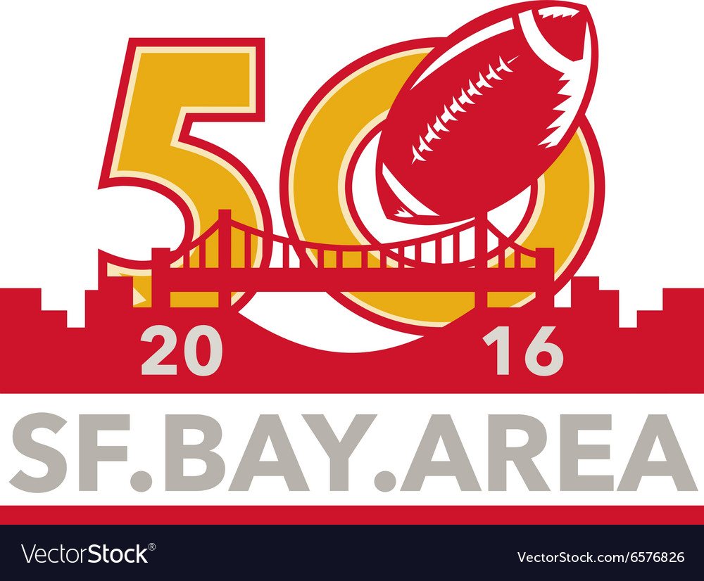 50 pro football championship sf bay area 2016 vector