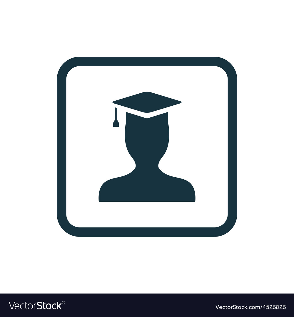 Graduate student icon rounded squares button vector