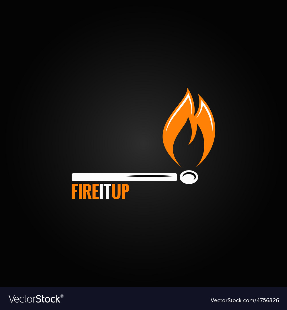 Match fire concept design background vector