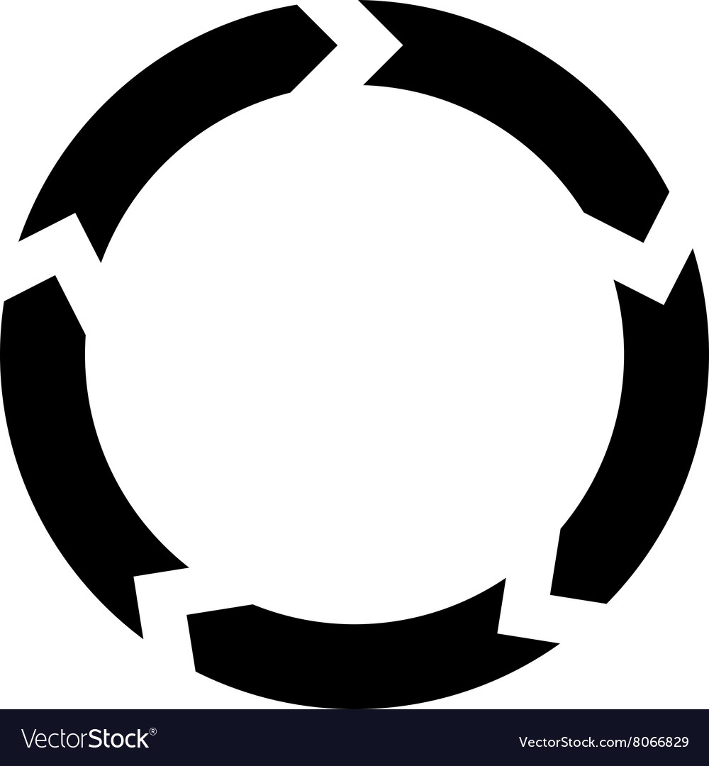 Circulation flat icon vector