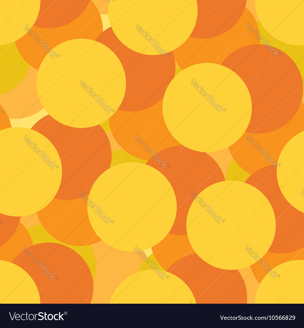 Golden circles seamless pattern vector