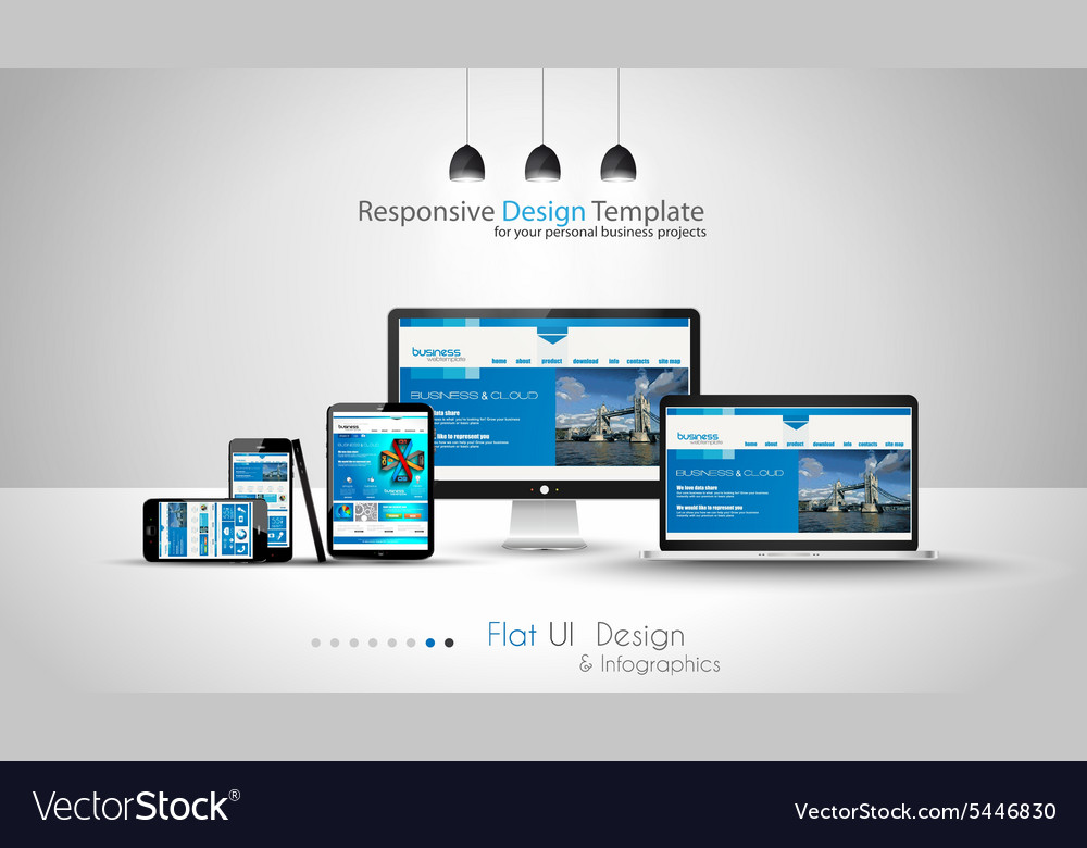 Modern devices mockups fpr your business projects vector