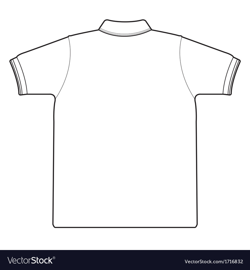 Back side of polo shirt vector