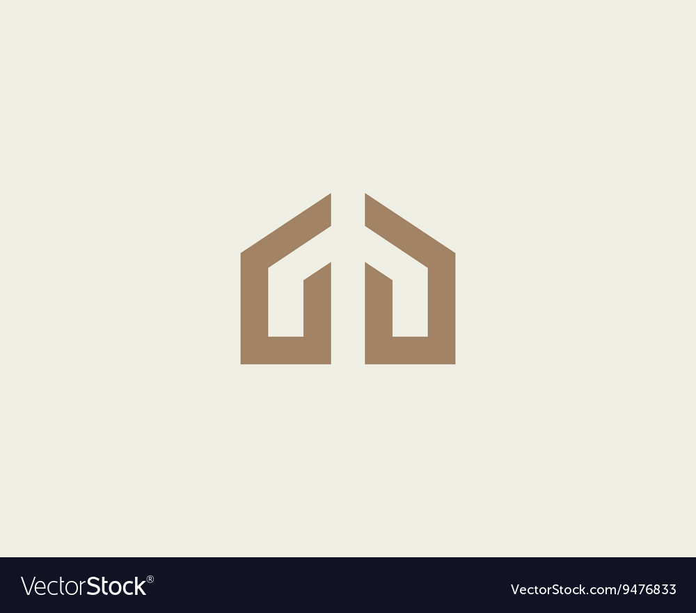 Abstract house hands logo design template premium vector