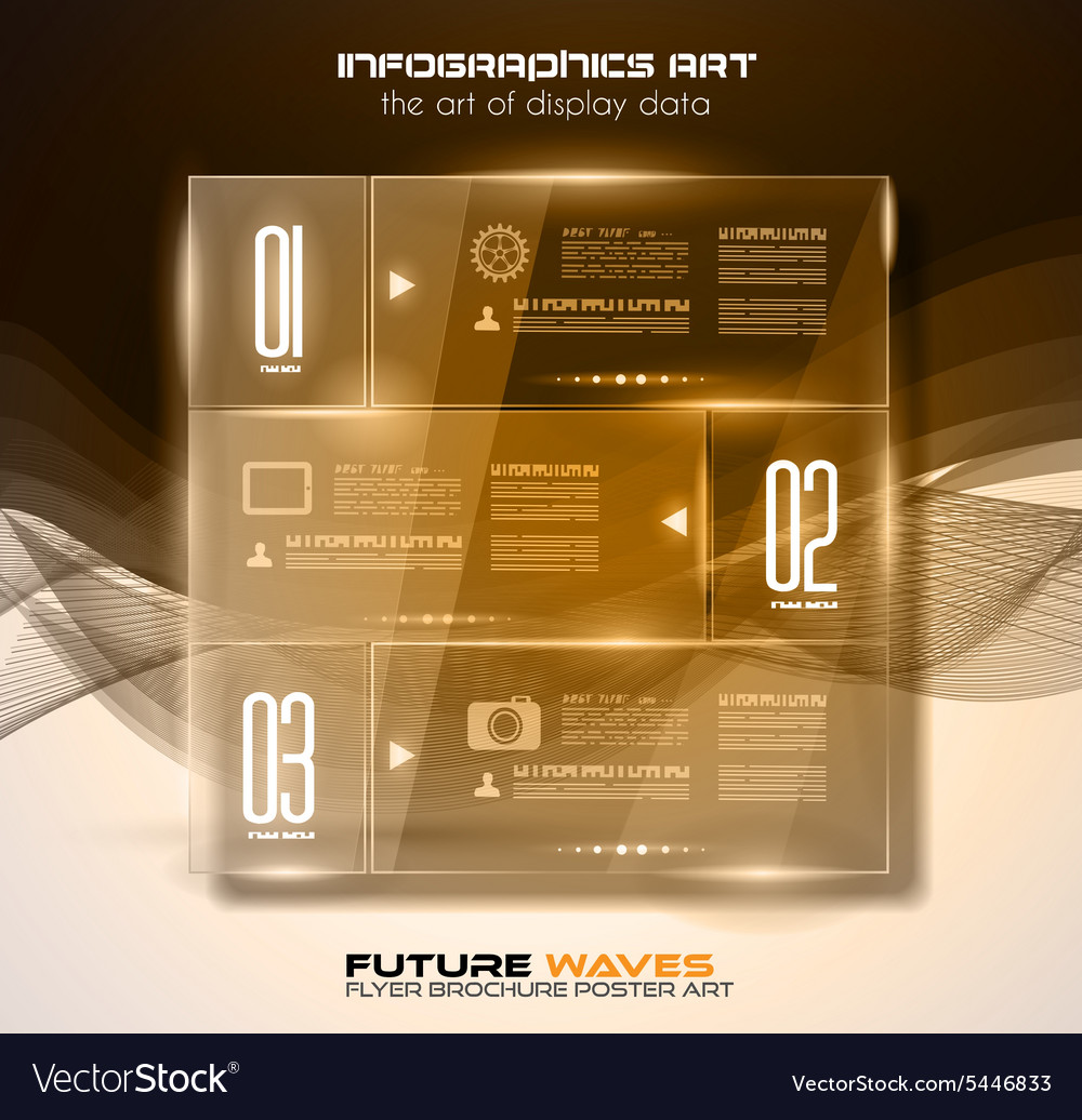 Infographic layout with spotlights over an high vector