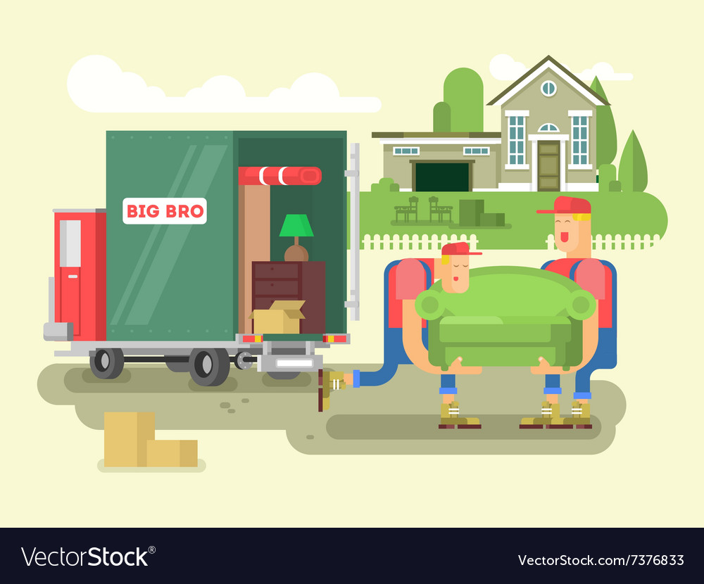 Moving design flat vector