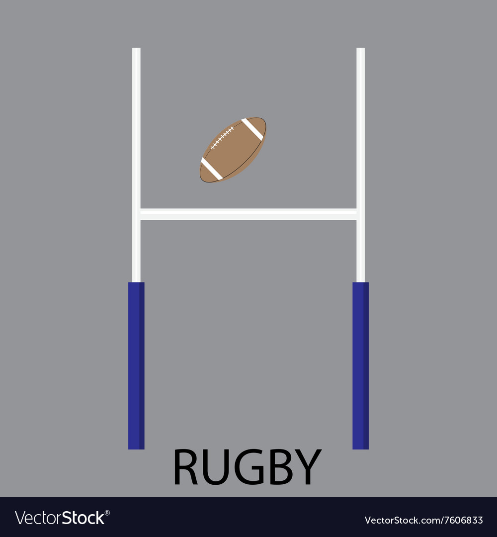 Rugby sport icon flat vector
