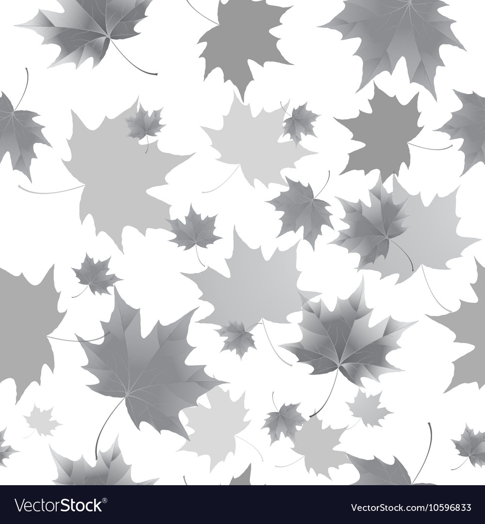 Seamless background pattern of autumn leaves vector