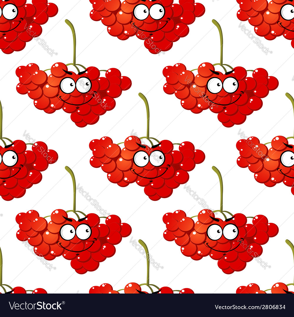 Cartoon red berry seamless pattern vector