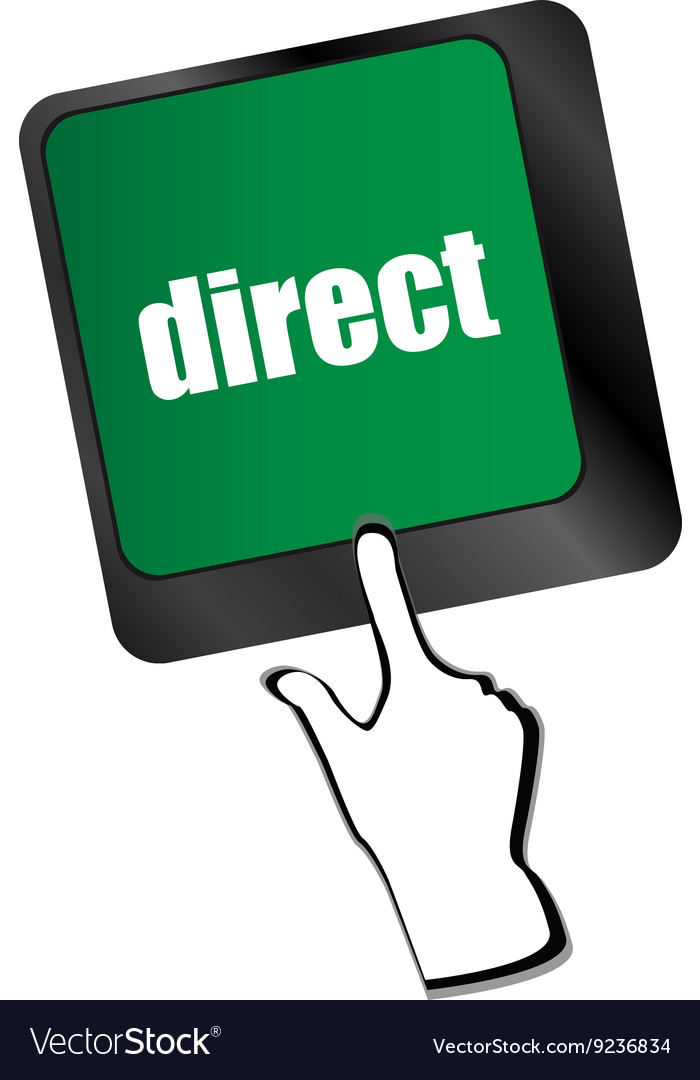 Direct  educational concept button on modern vector