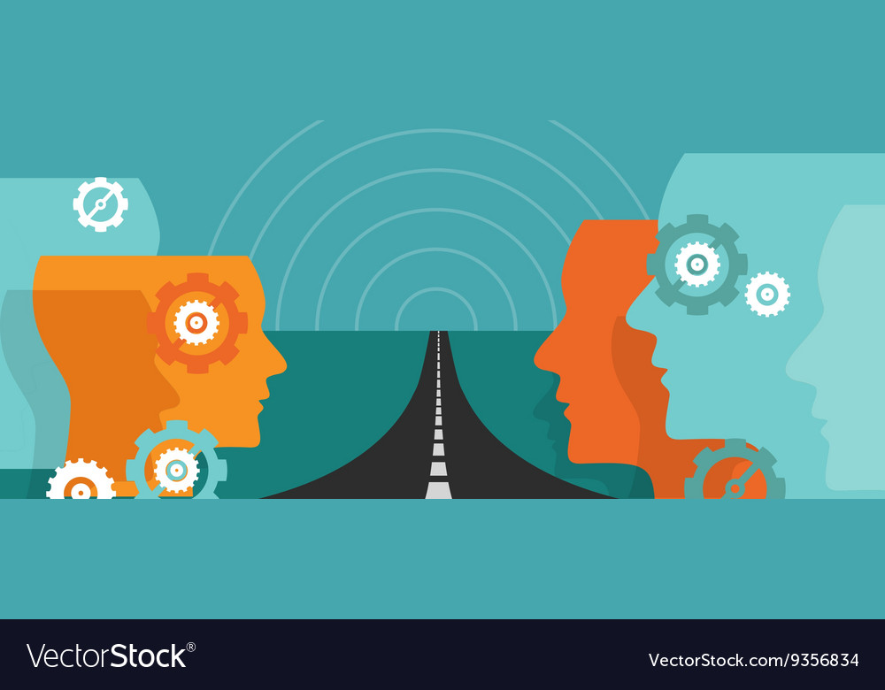 Road ahead future concept of change hope plan vector