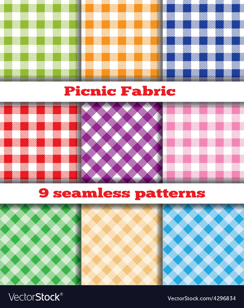 Set of tissue samples for a picnic vector