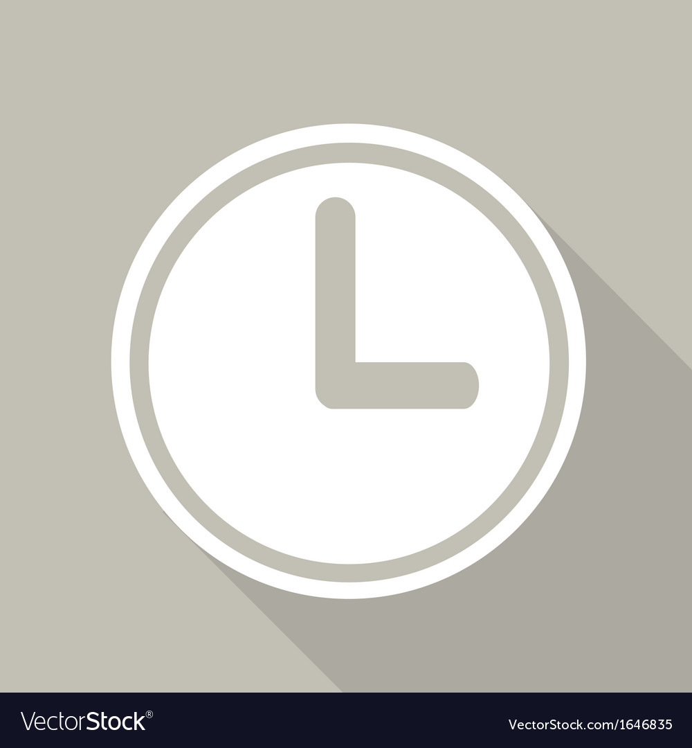 Clock web icon button vector