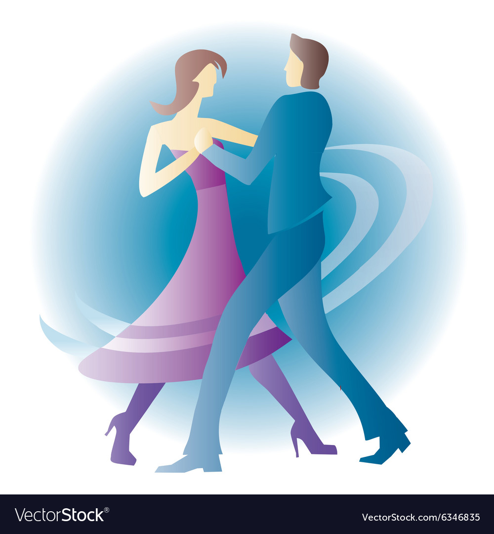 Dancing young couple vector
