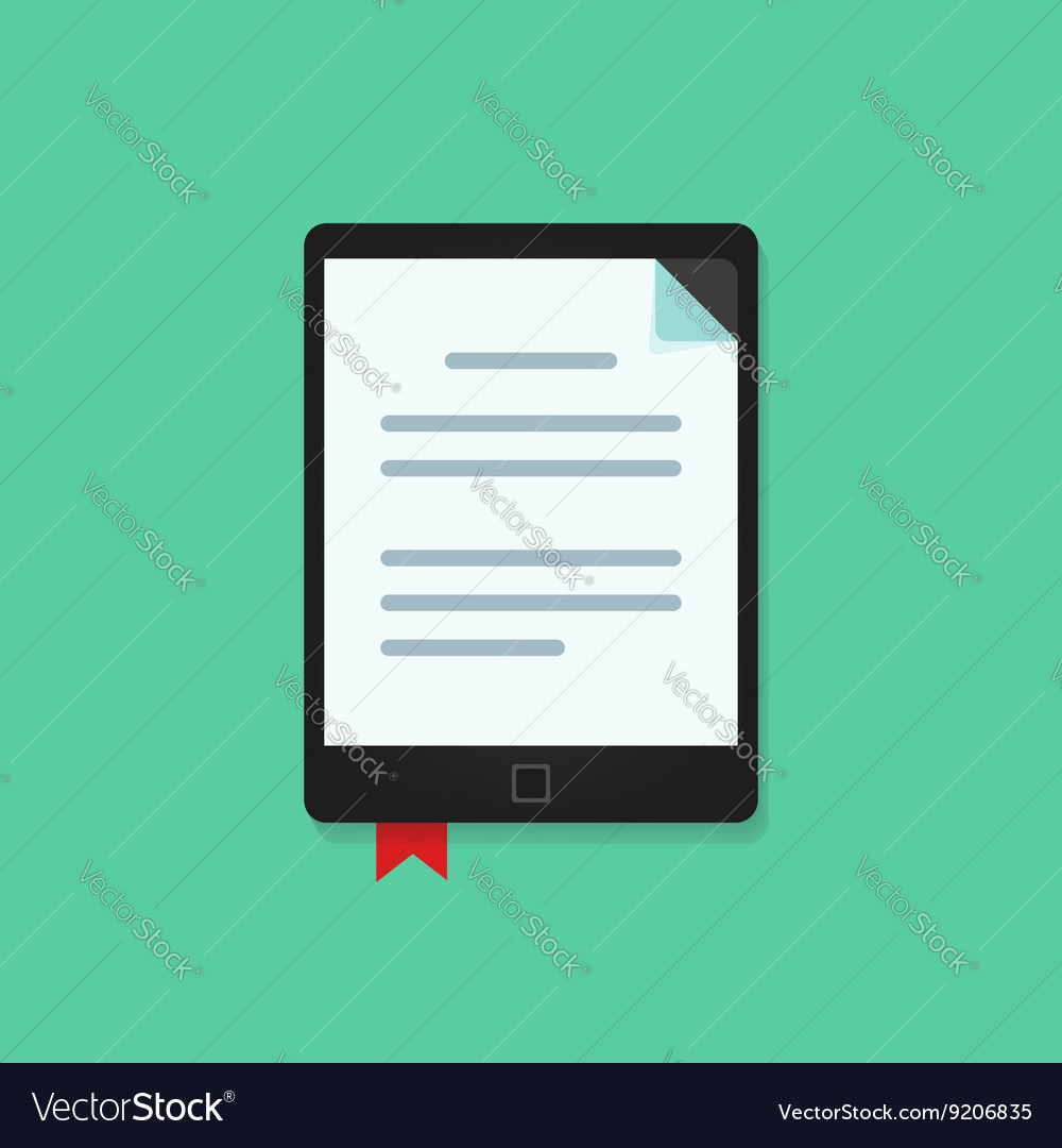 Ebook ebook electronic book reader icon vector