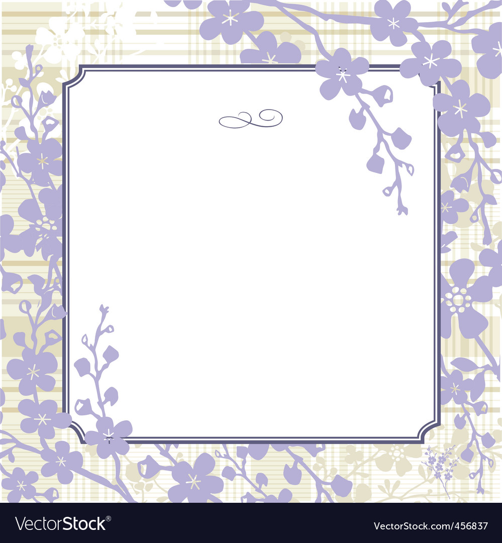 Lilac blossom background vector