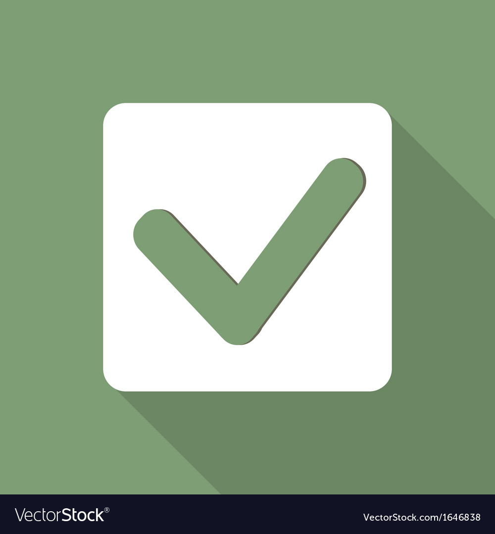 Accept web icon vector