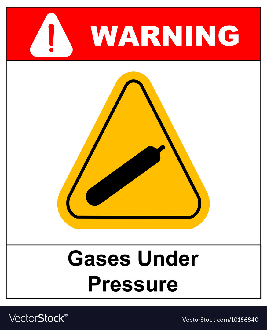 Gases under pressure sign symbol vector