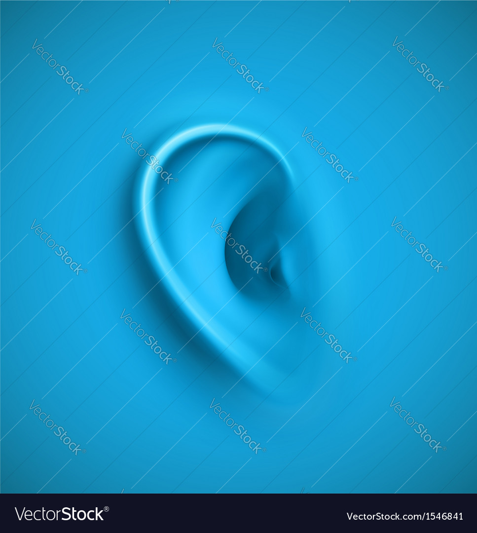 Background with ear vector