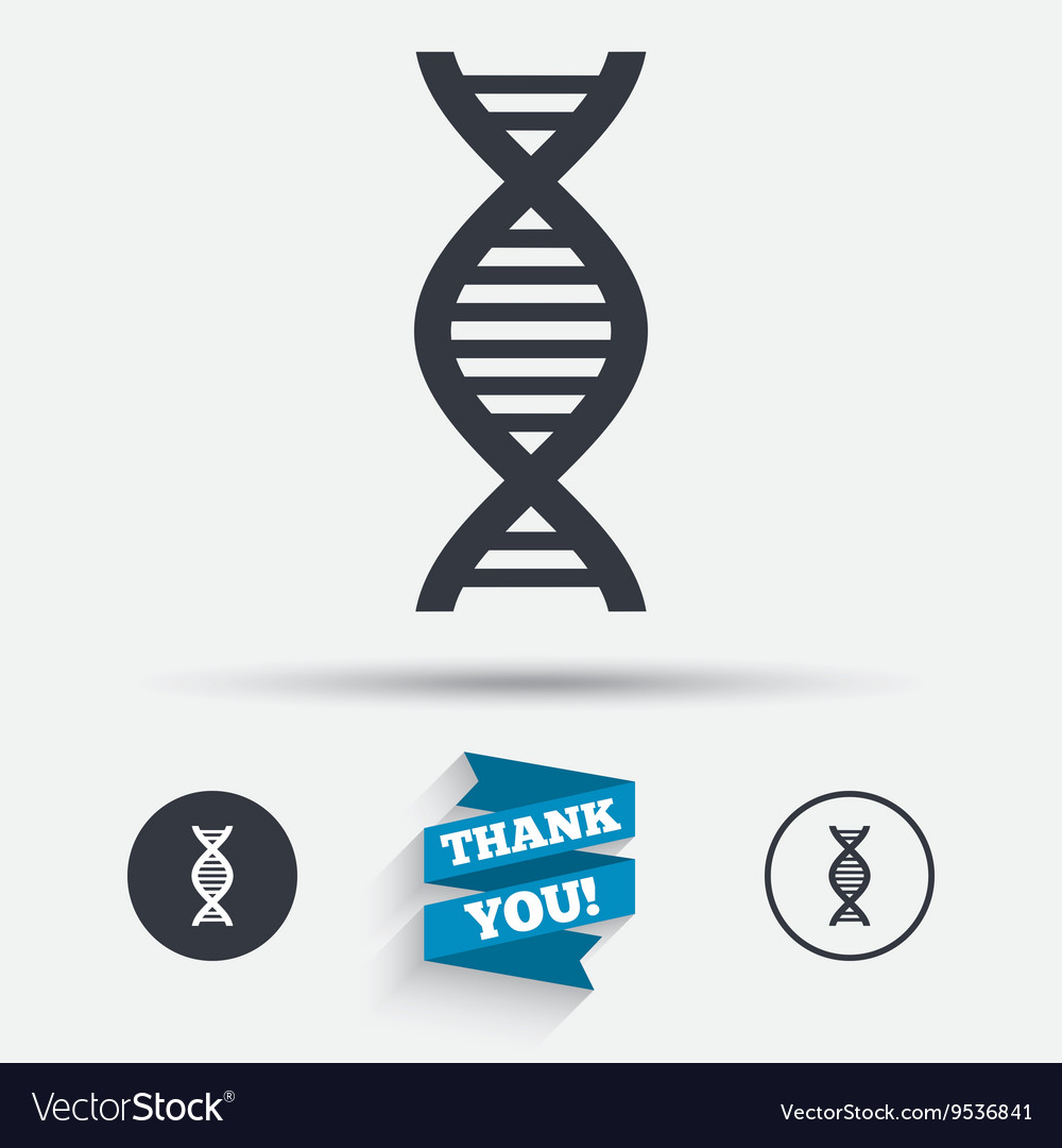Dna sign icon deoxyribonucleic acid symbol vector