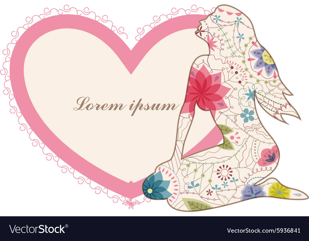 Vintage banner with woman vector