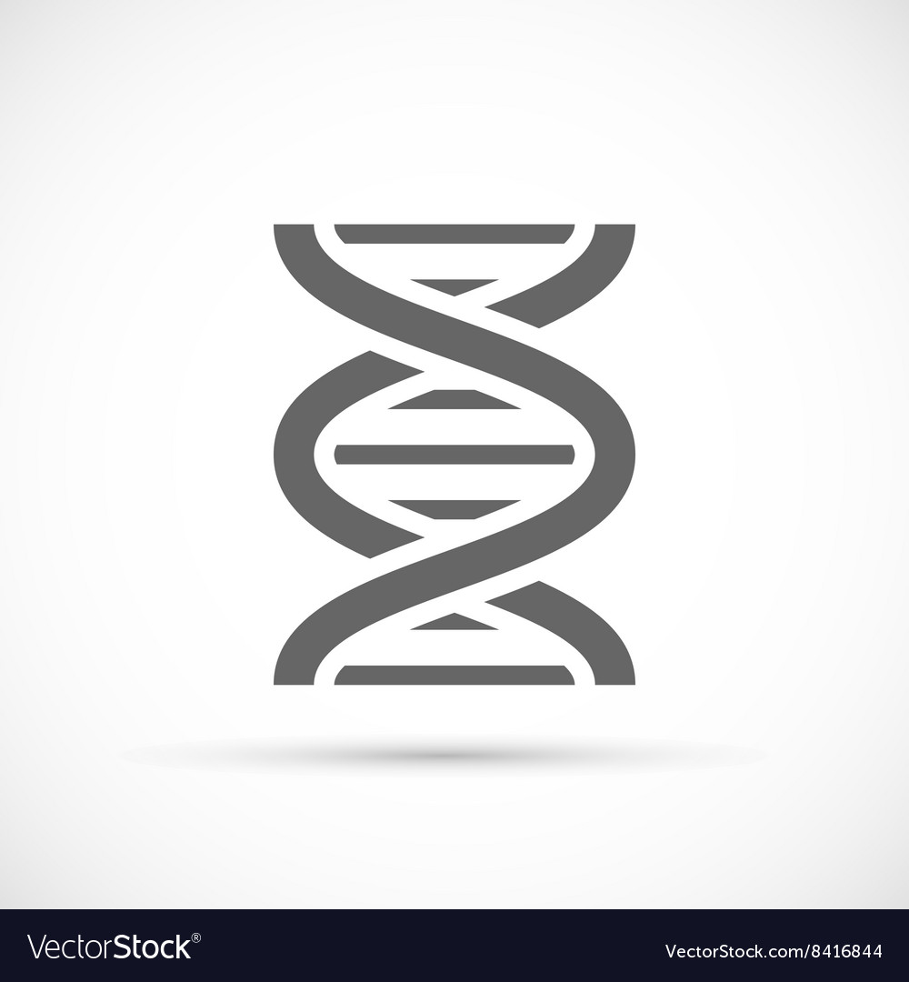 Dna helix icon vector