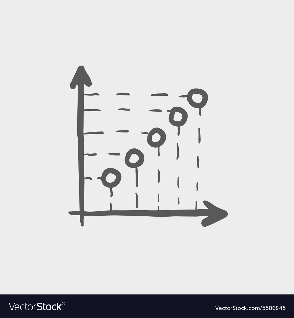 Arrows indicating information sketch icon vector