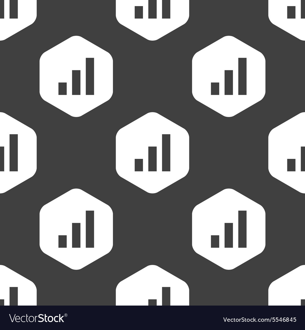 Black hexagon volume scale pattern vector