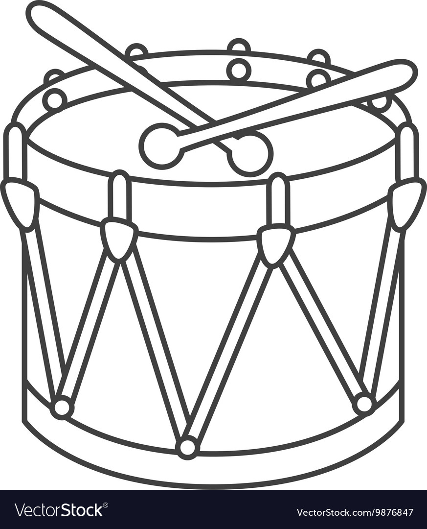 Drum kit toy icon vector
