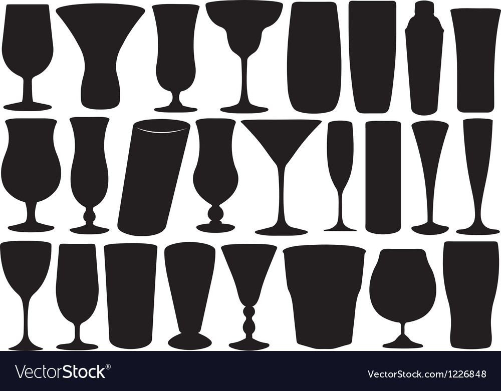 Set of glasses vector
