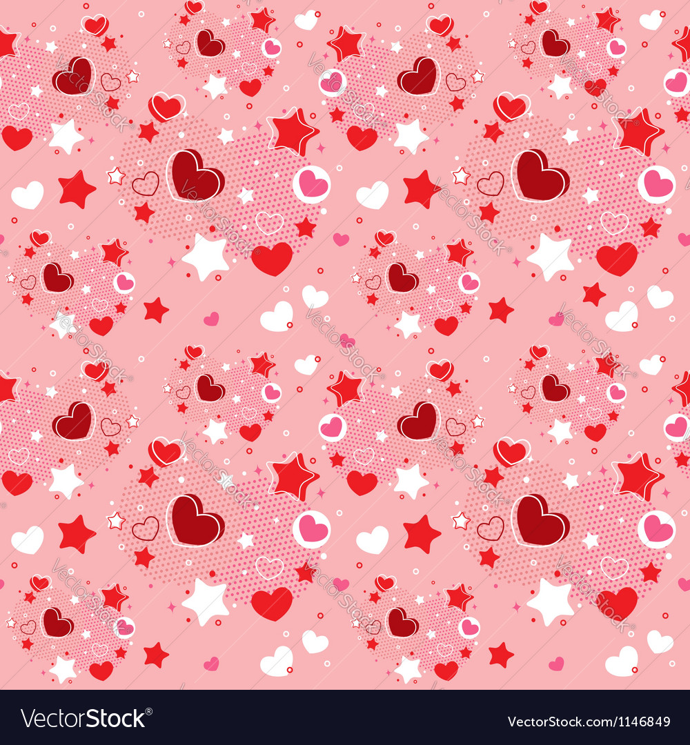 Cute valentine seamless pattern vector