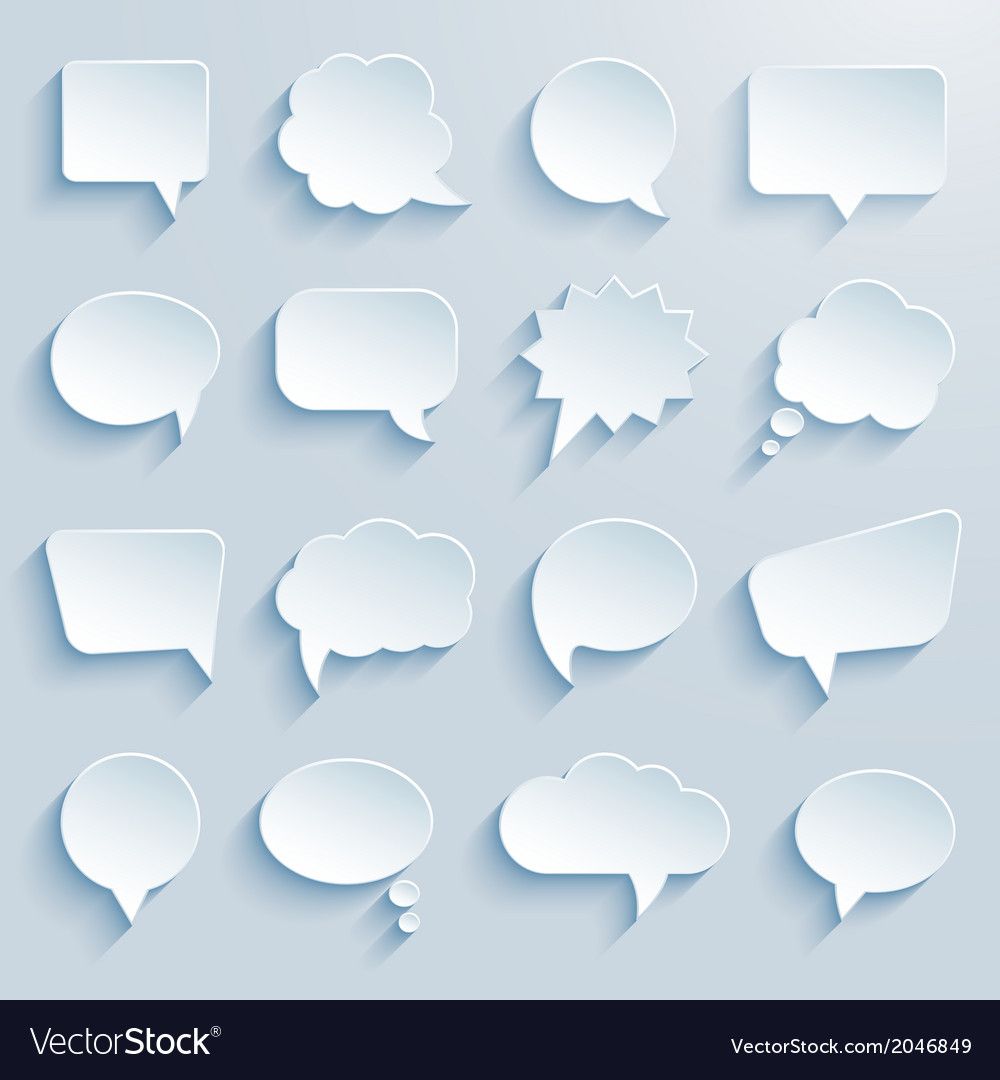 Paper communication bubbles vector