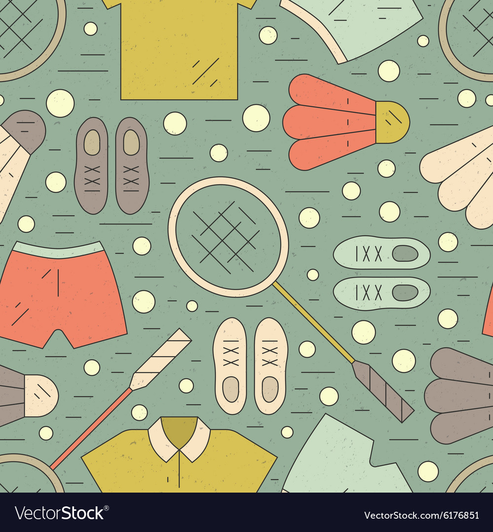 Badminton pattern vector