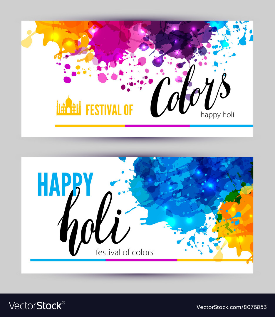 Calligraphic header and banner set vector
