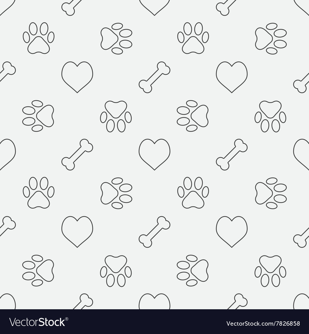 Dog minimal pattern vector