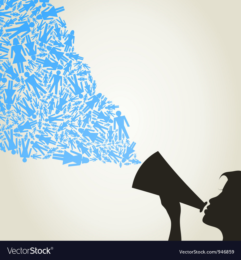 Abstract megaphone advertising vector