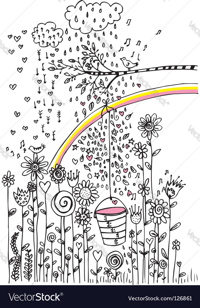 Nature sketch vector