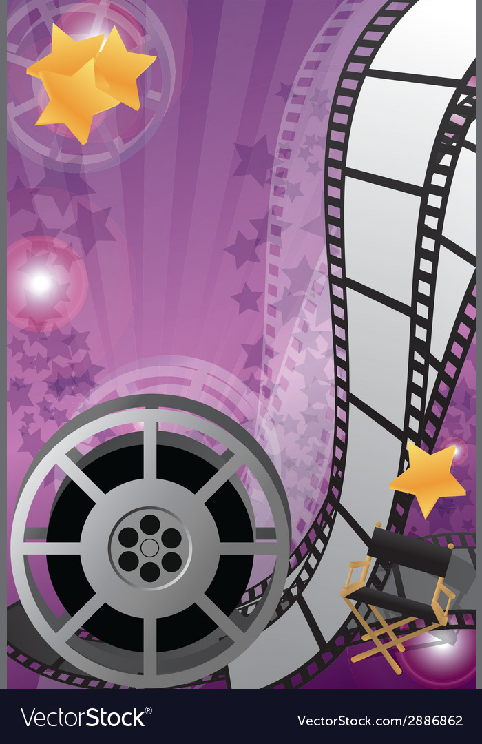 Movie poster vector