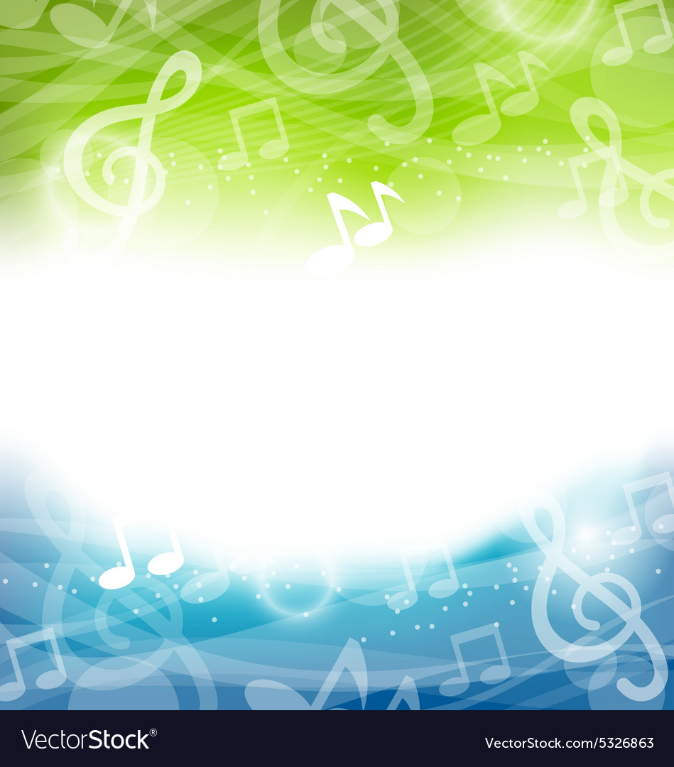 Background with musical elements vector