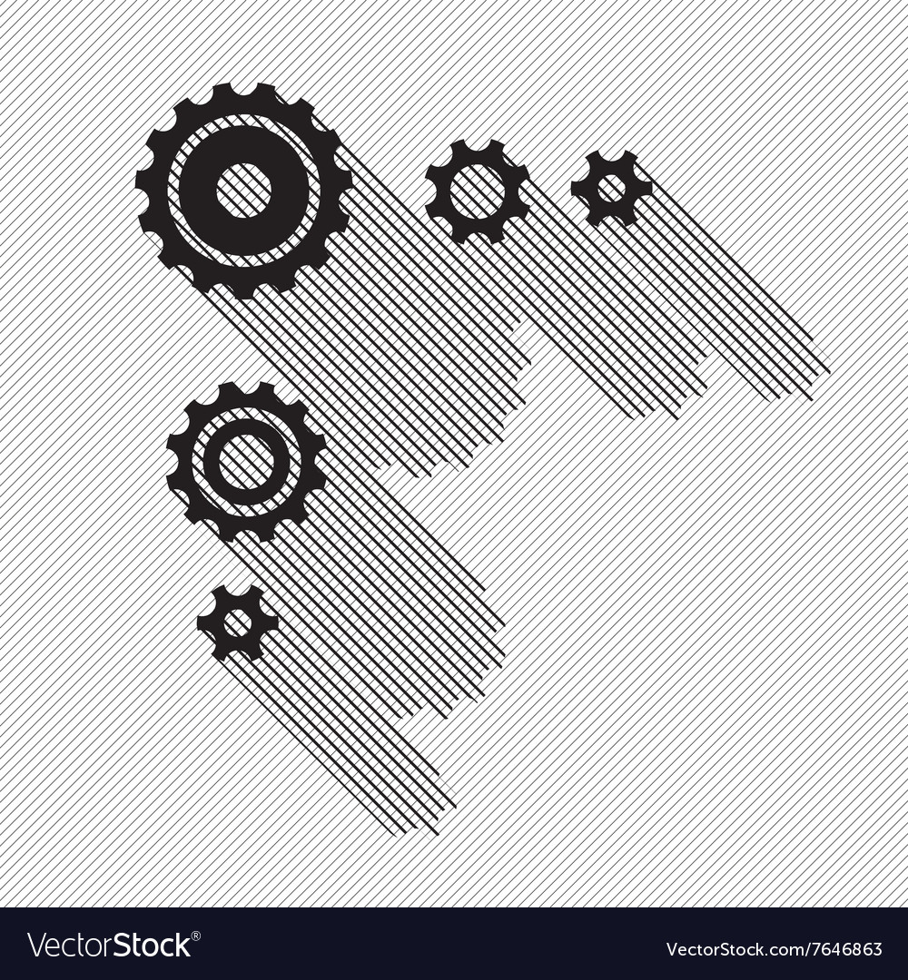 Black gears set vector