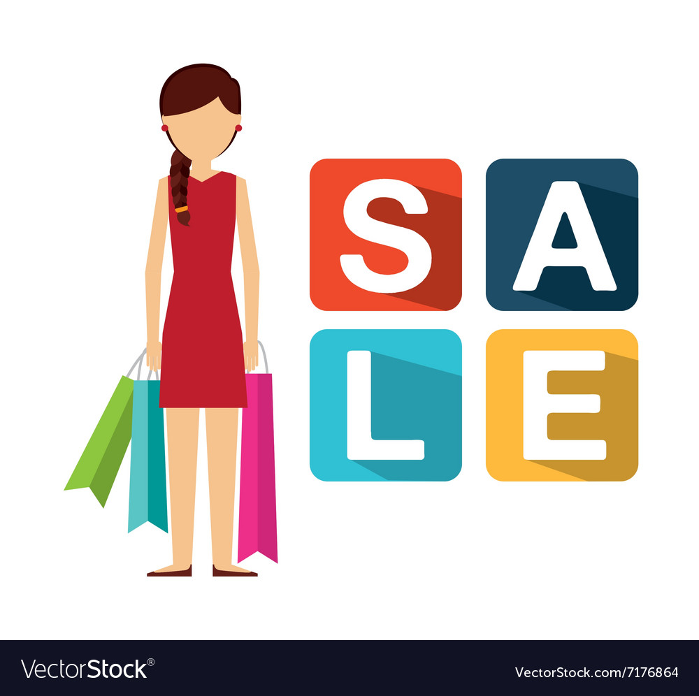Shopping people design vector
