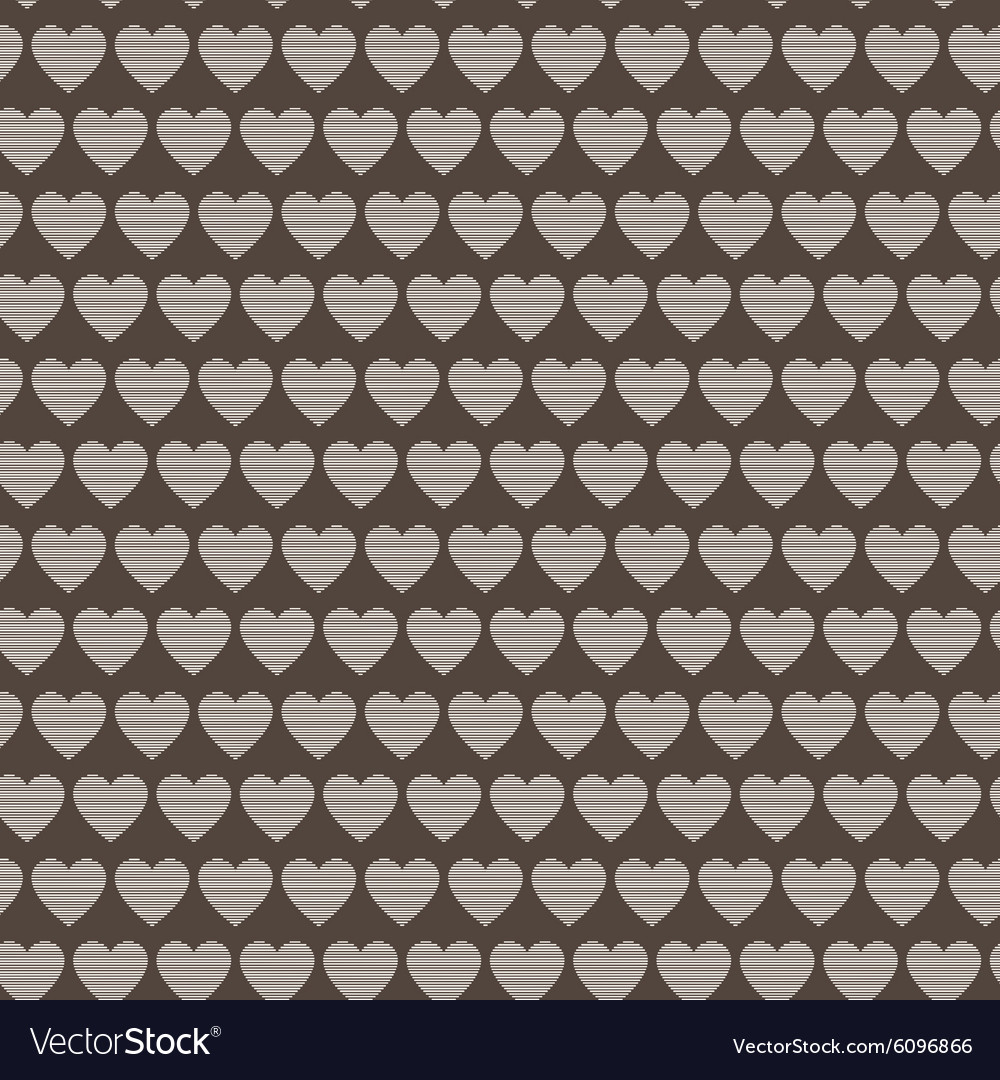 Seamless pattern of striped hearts vector